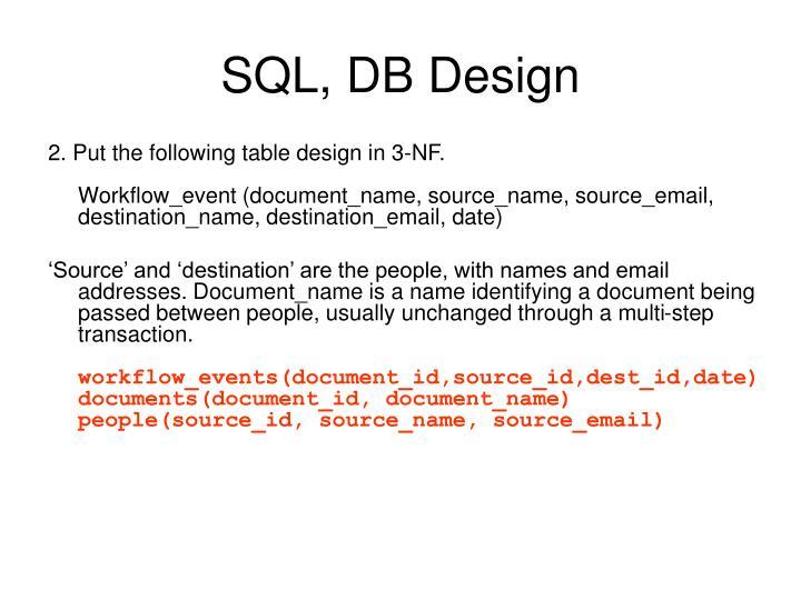 SQL, DB Design