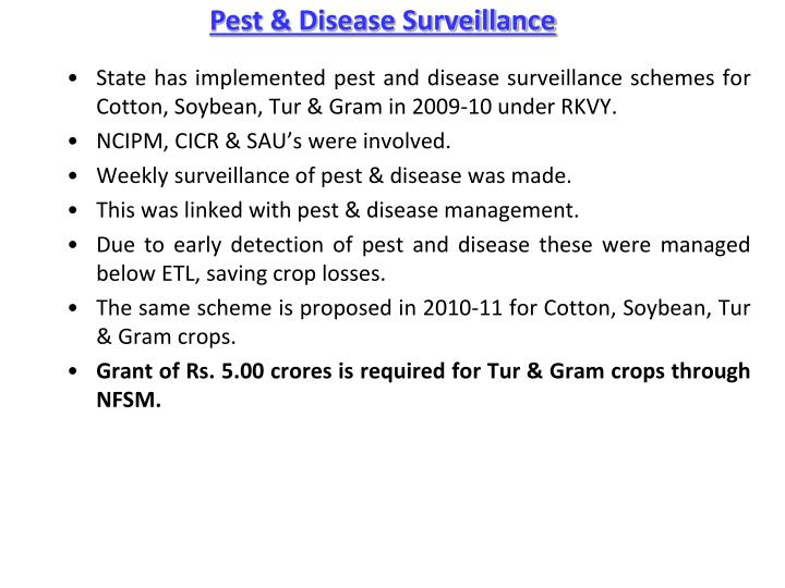 Pest & Disease Surveillance