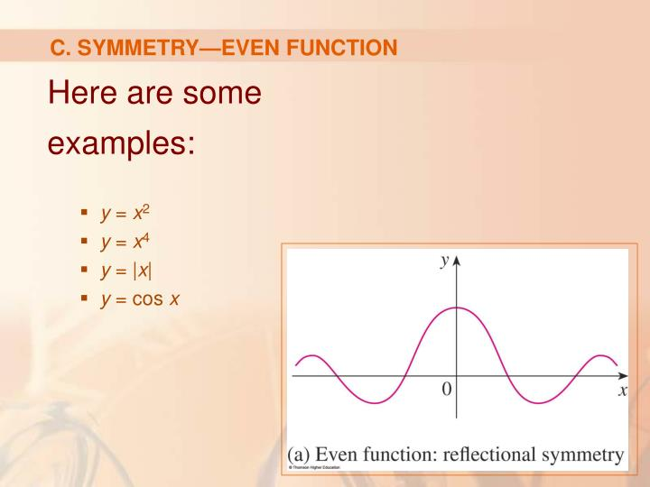 C. SYMMETRY—EVEN FUNCTION