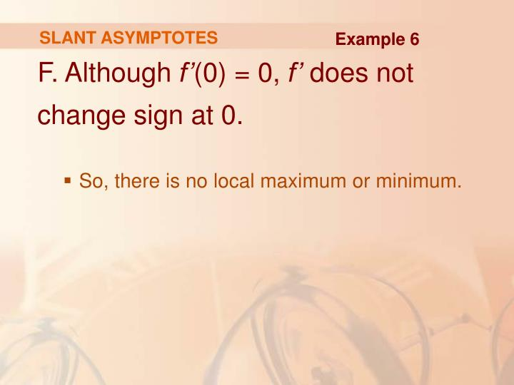 SLANT ASYMPTOTES