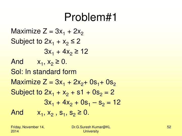 Problem#1