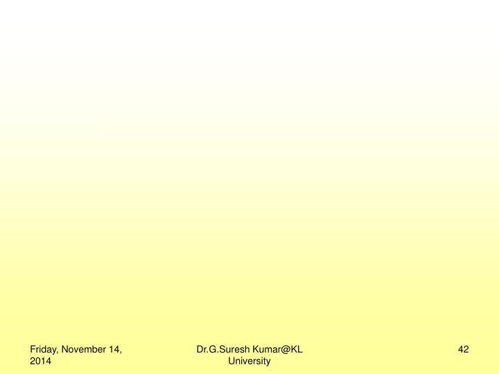 Dr.G.Suresh Kumar@KL University