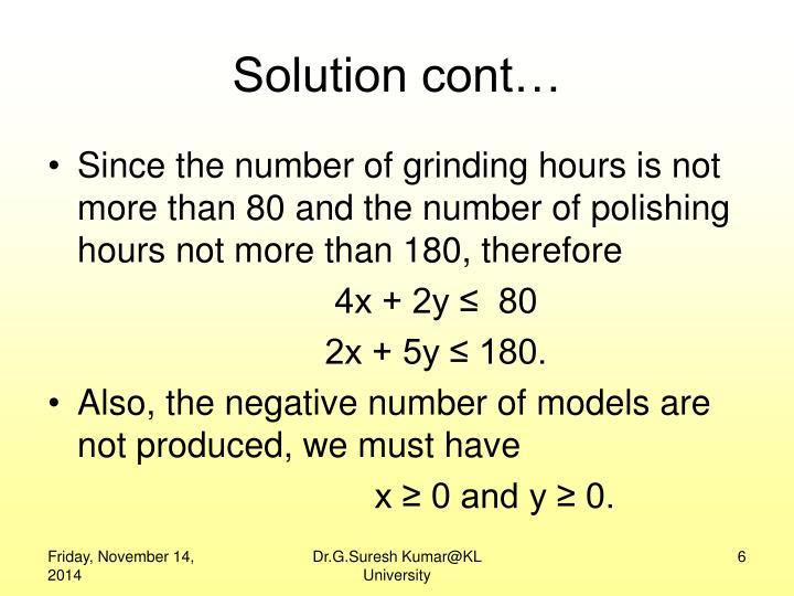 Solution cont…