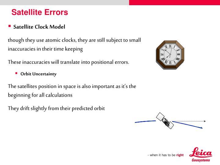 Satellite Errors