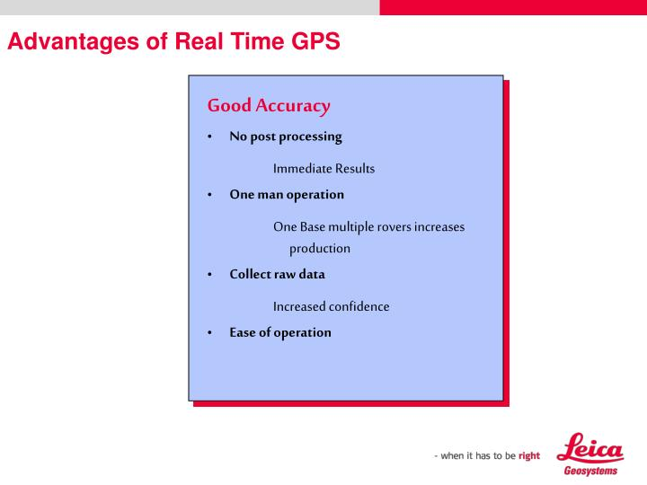 Advantages of Real Time GPS