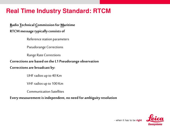 Real Time Industry Standard: RTCM