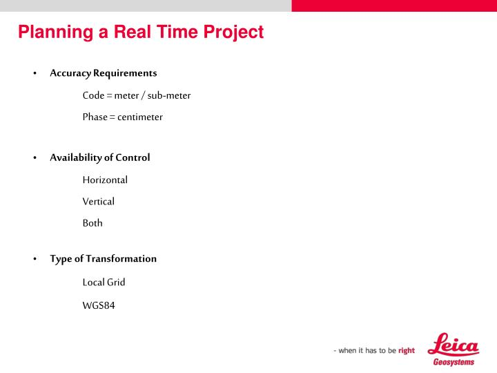Planning a Real Time Project