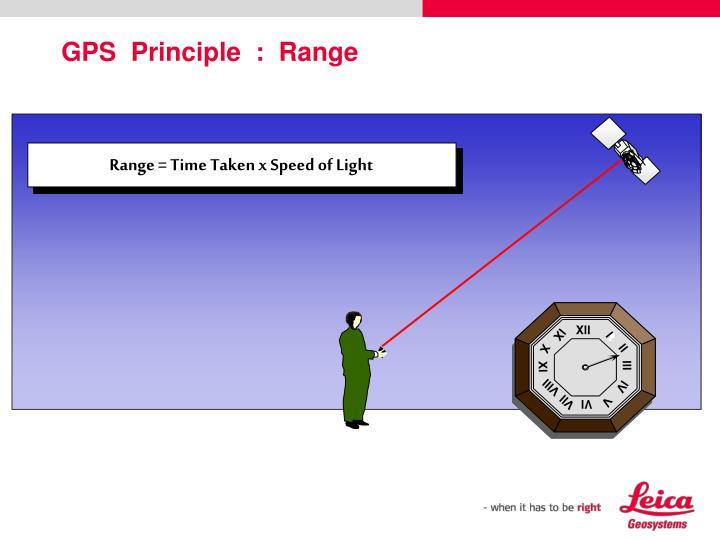 Range = Time Taken x Speed of Light