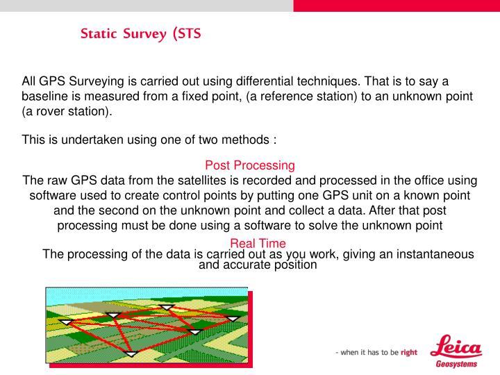 Static  Survey  (STS