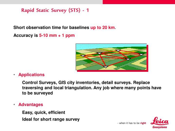 Rapid  Static  Survey  (STS)  -  1