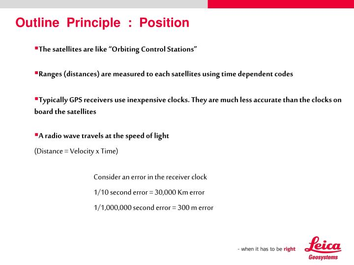 Outline  Principle  :  Position