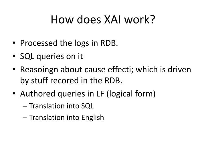 How does XAI work?