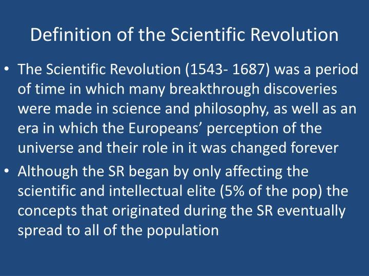 Definition of the Scientific Revolution