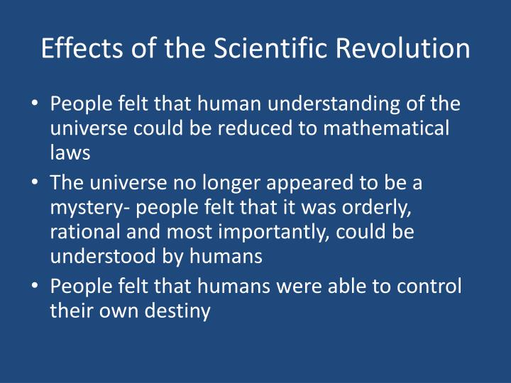 Effects of the Scientific Revolution
