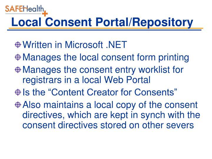 Local Consent Portal/Repository