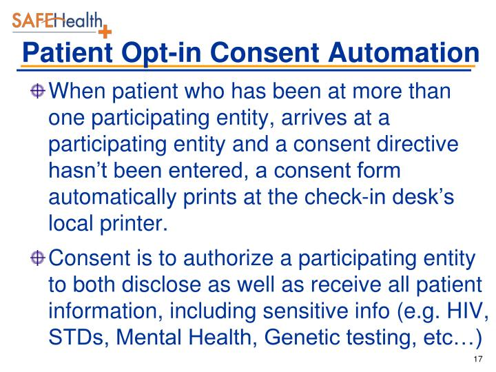 Patient Opt-in Consent Automation