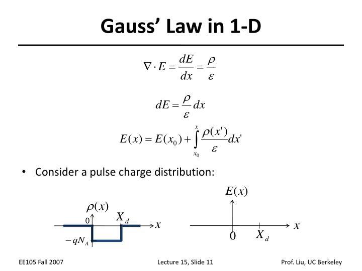 Gauss' Law in 1-D