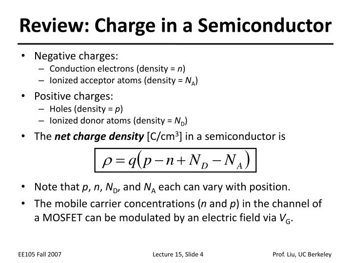 Review: Charge in a Semiconductor