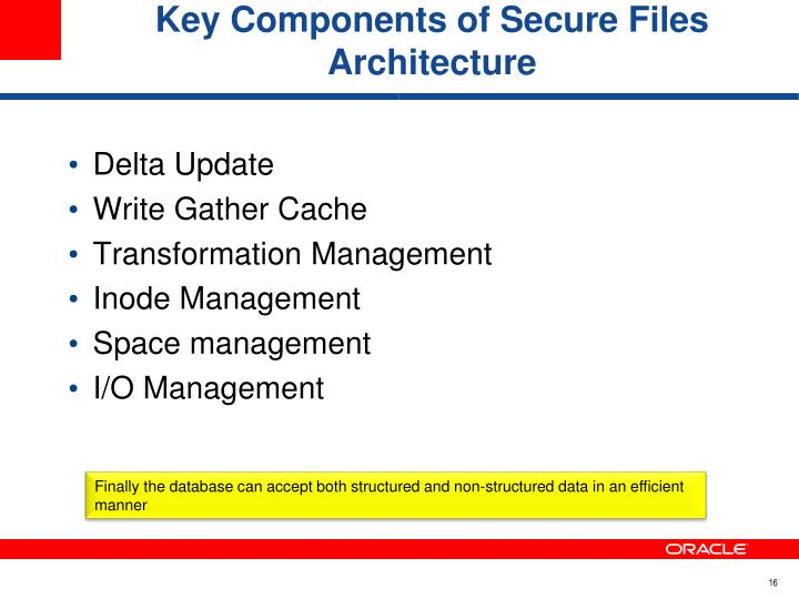 Key Components of Secure Files Architecture