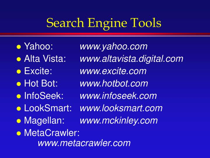 Search Engine Tools