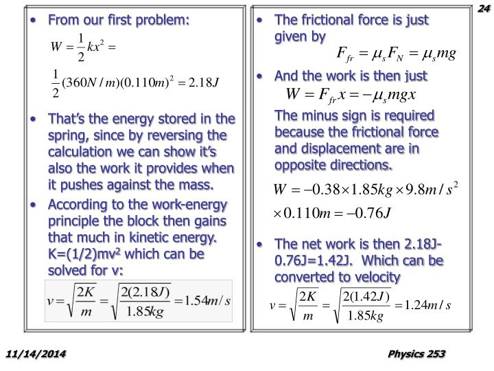 From our first problem: