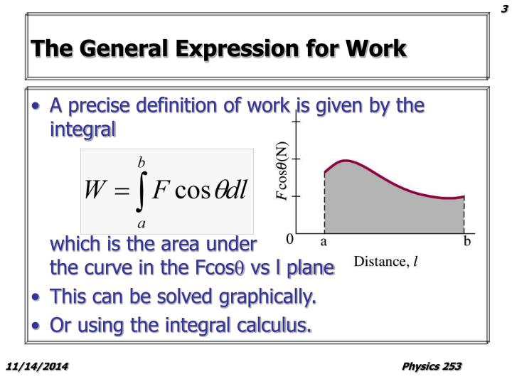 The General Expression for Work