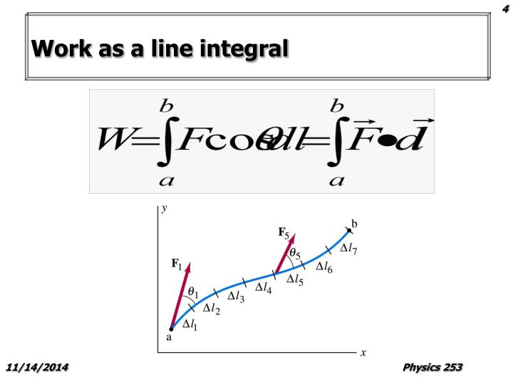 Work as a line integral