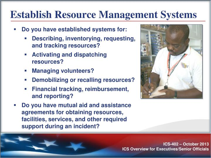 Establish Resource Management Systems
