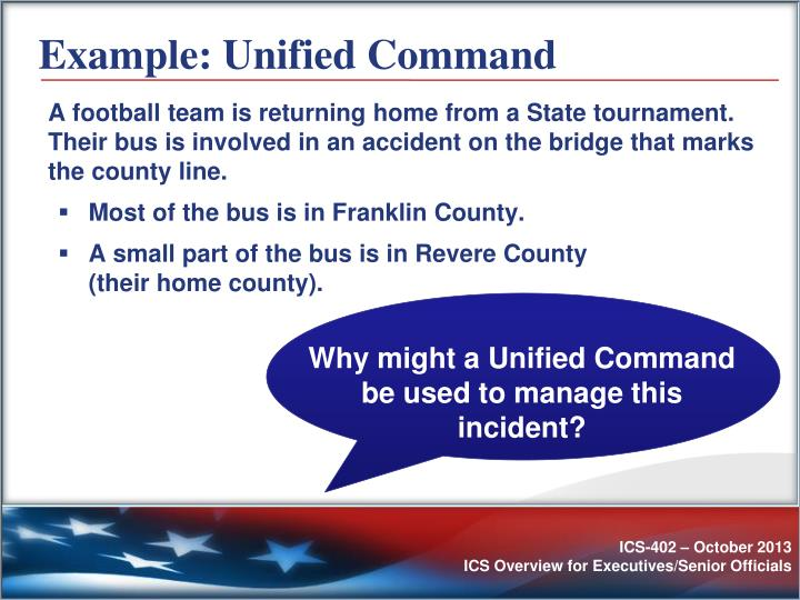 Example: Unified Command