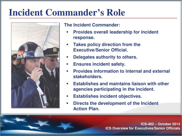 Incident Commander's Role