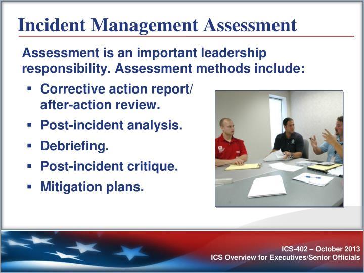 Incident Management Assessment