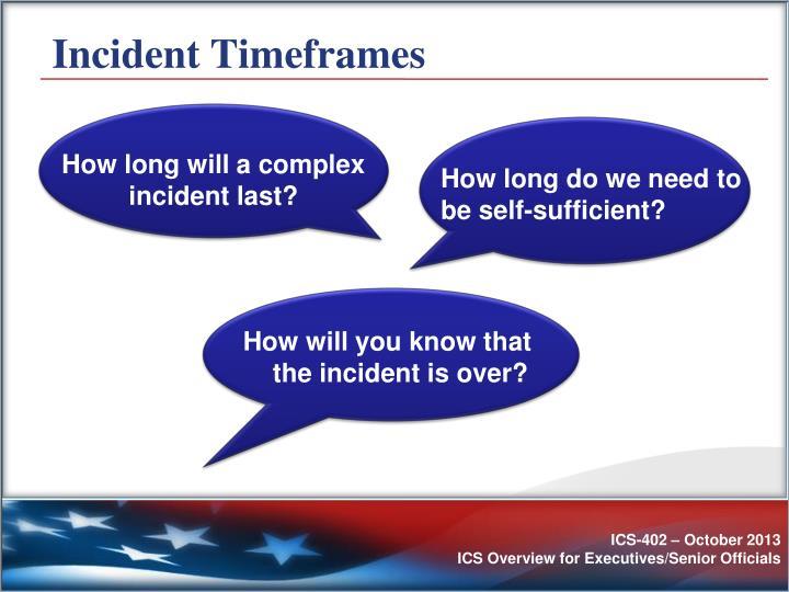 Incident Timeframes