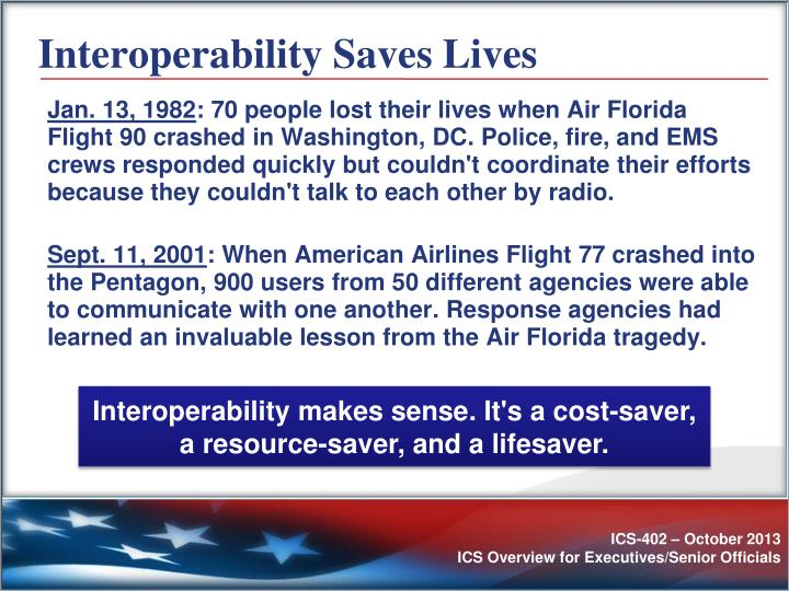 Interoperability Saves Lives