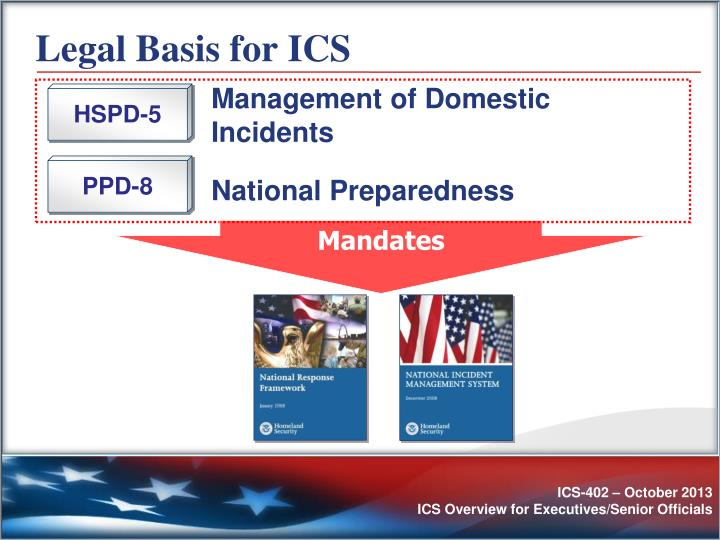 Legal Basis for ICS