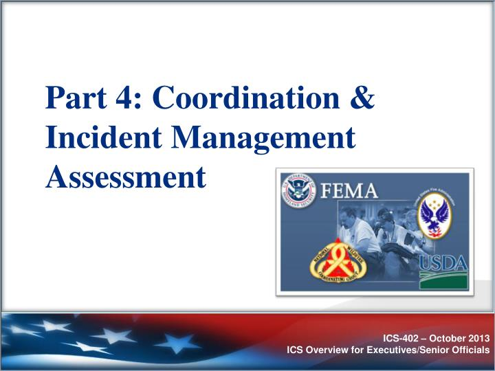 Part 4: Coordination & Incident Management Assessment