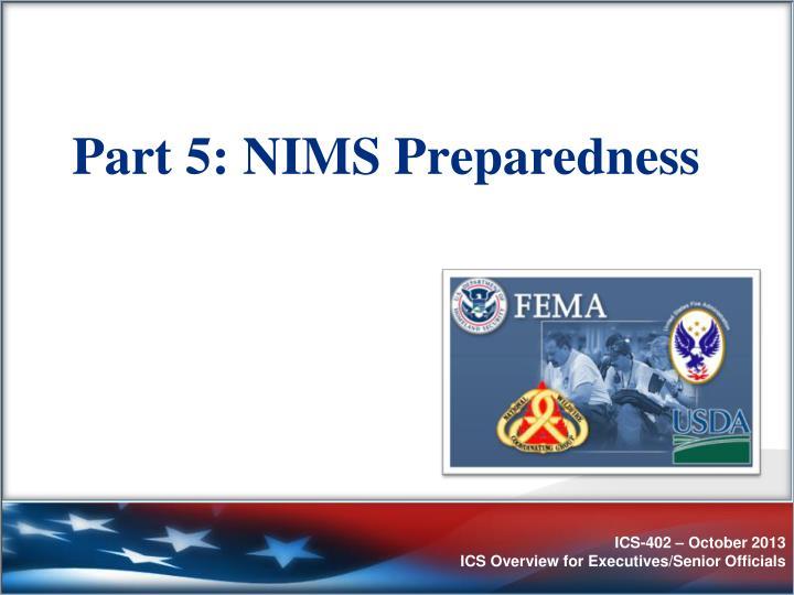 Part 5: NIMS Preparedness