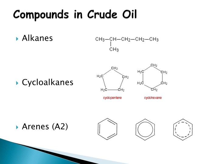 Compounds in Crude Oil
