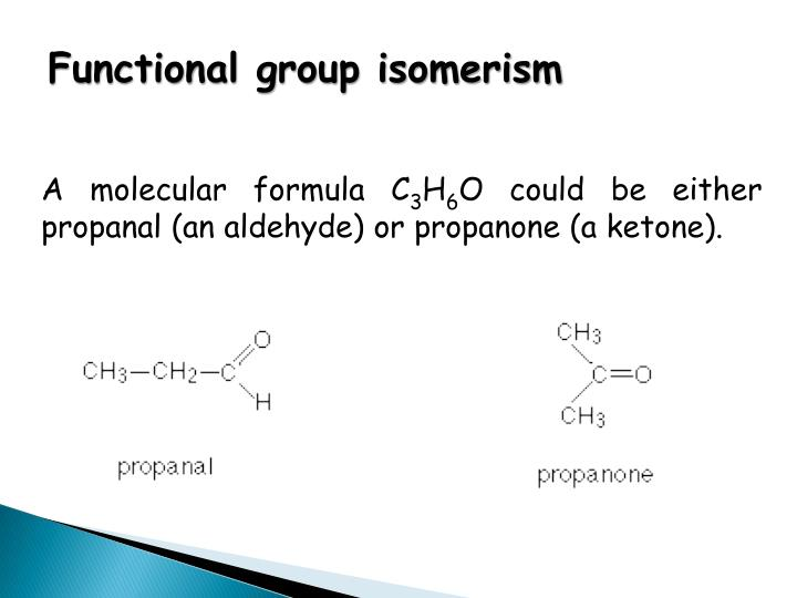 Functional group isomerism