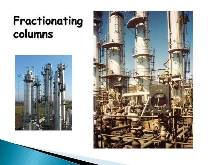 Fractionating columns