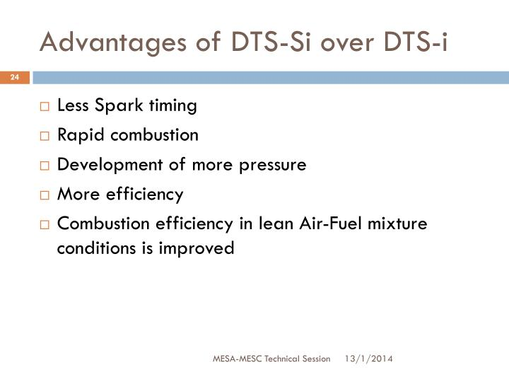 Advantages of DTS-Si over DTS-i