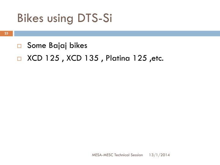 Bikes using DTS-Si