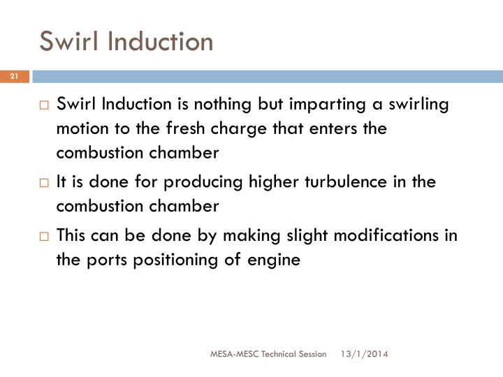 Swirl Induction