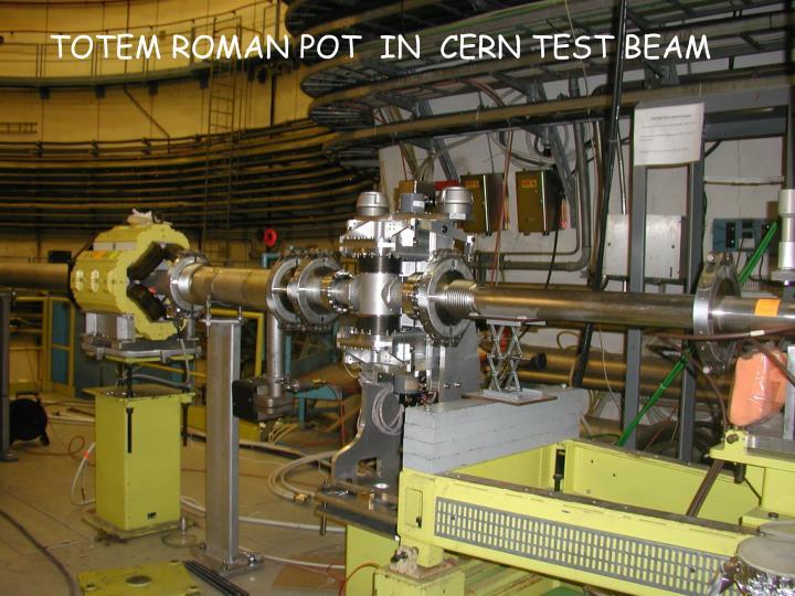 TOTEM ROMAN POT  IN  CERN TEST BEAM