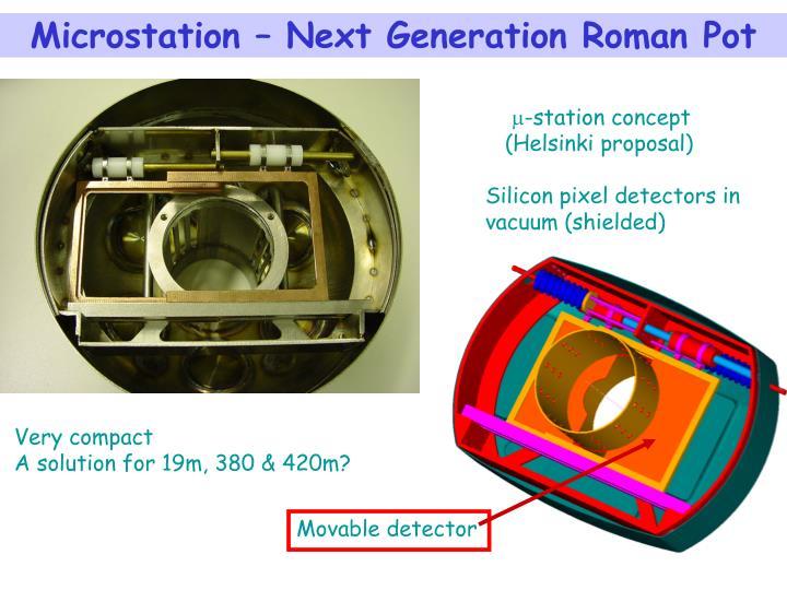 Microstation – Next Generation Roman Pot