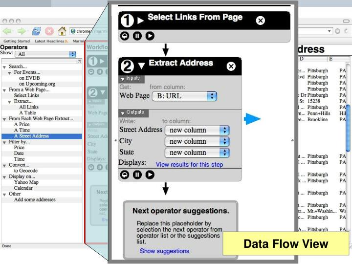 Data Flow View