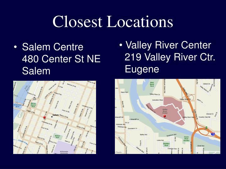 Closest Locations