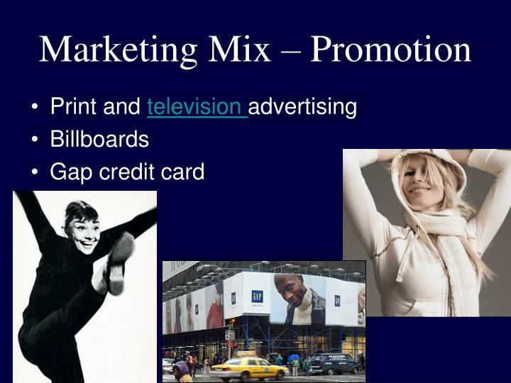 Marketing Mix – Promotion