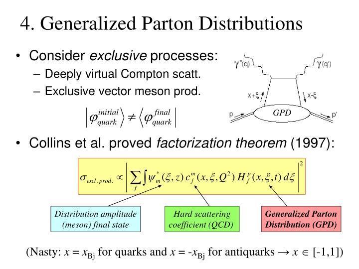 4. Generalized Parton Distributions