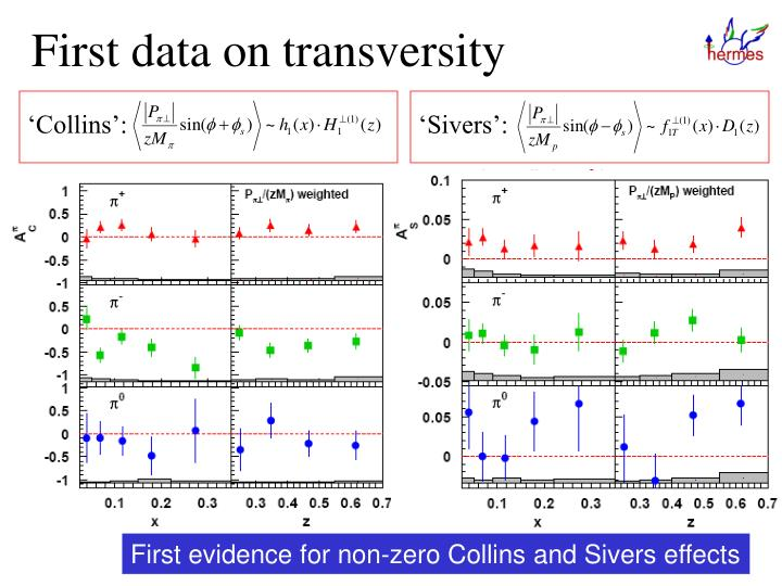 First data on transversity