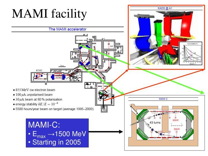 MAMI facility